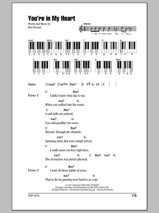 You're In My Heart Sheet Music
