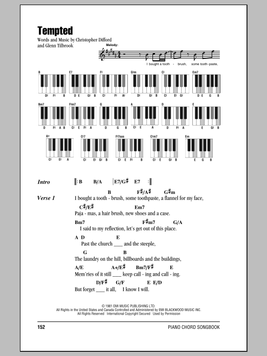 Tempted Sheet Music