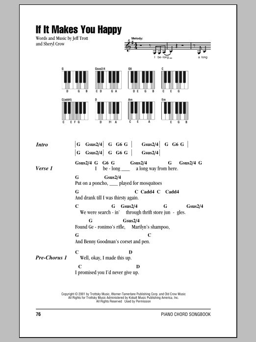 If It Makes You Happy Sheet Music