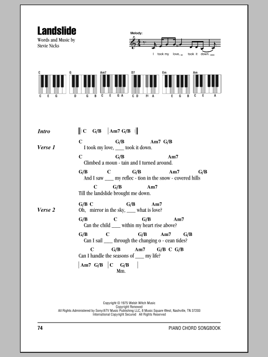 Landslide Sheet Music