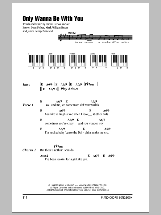 Only Wanna Be With You Sheet Music
