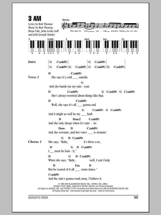 3 AM Sheet Music