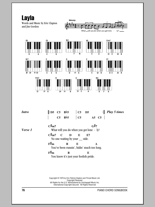 Layla | Sheet Music Direct