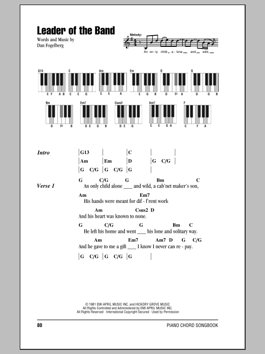Leader Of The Band | Sheet Music Direct