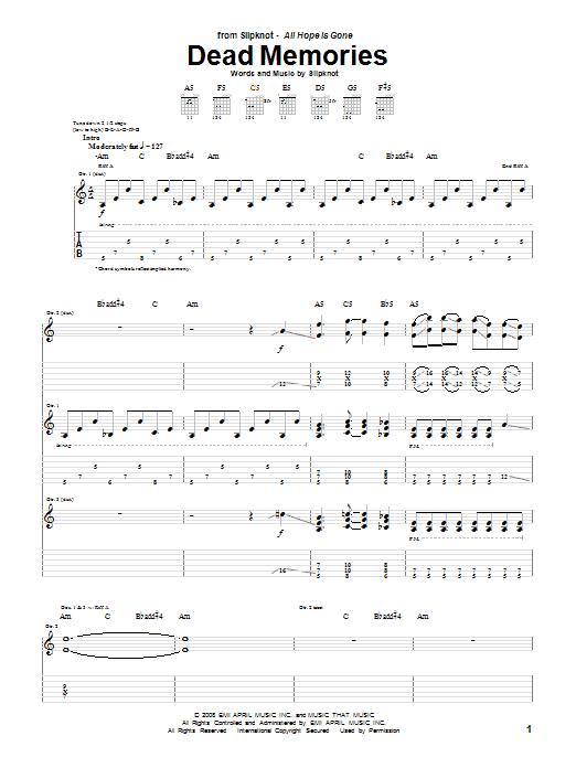 Dead Memories (Guitar Tab)