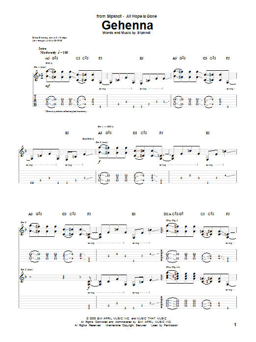 Gehenna Sheet Music