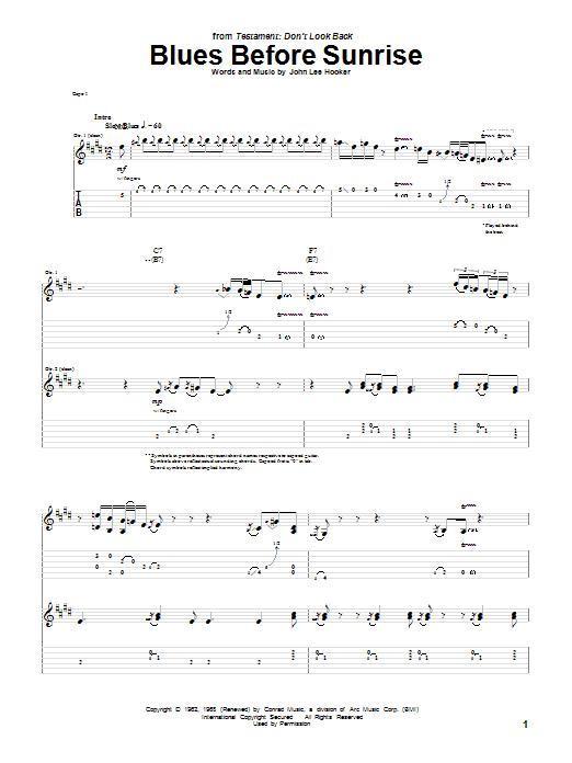 Blues Before Sunrise (Guitar Tab)