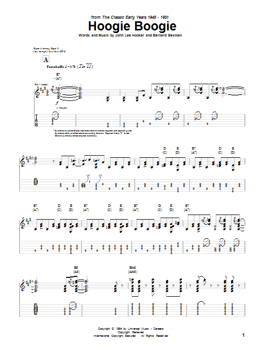 Hoogie Boogie Sheet Music