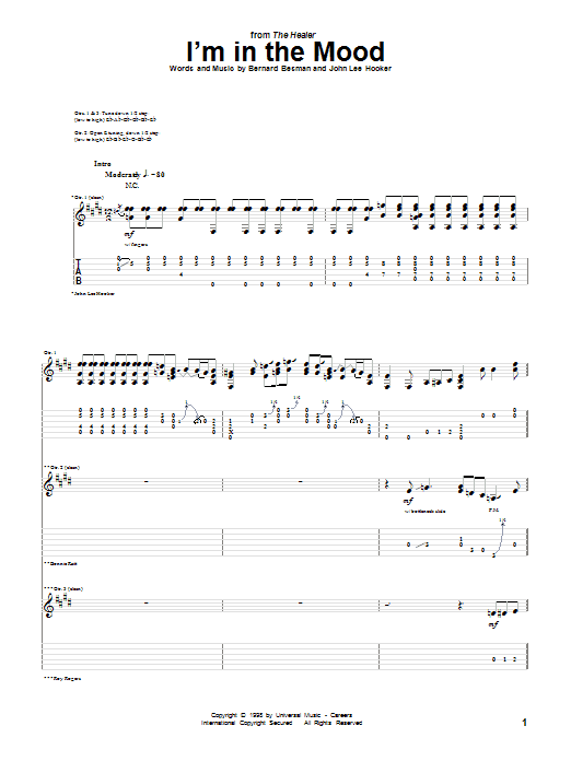 I'm In The Mood Sheet Music