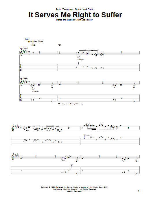 It Serves Me Right To Suffer Sheet Music