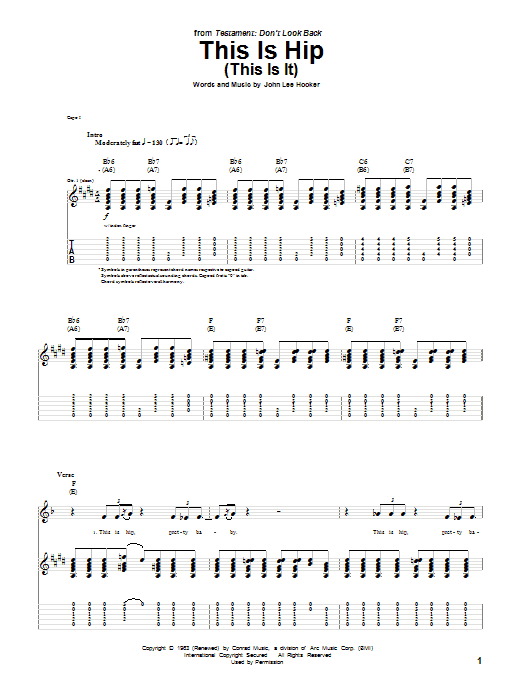This Is Hip (This Is It) Sheet Music