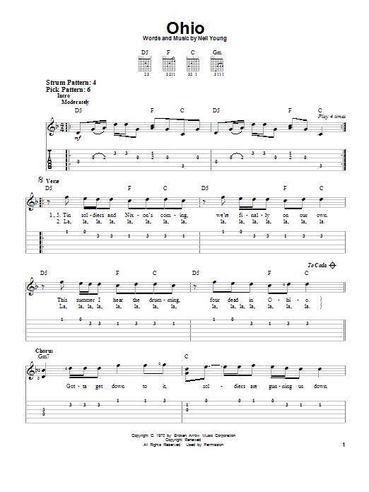 Ohio (Easy Guitar Tab)