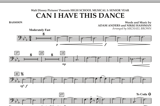 Can I Have This Dance? (from High School Musical 3) - Bassoon (Concert Band)