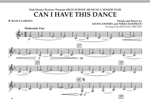 Can I Have This Dance? (from High School Musical 3) - Bb Bass Clarinet (Concert Band)