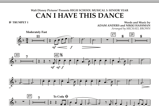 Can I Have This Dance? (from High School Musical 3) - Bb Trumpet 1 (Concert Band)