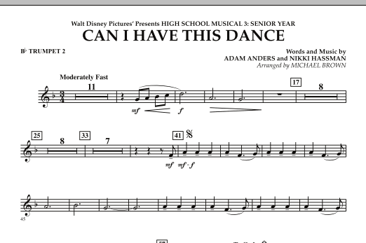 Can I Have This Dance? (from High School Musical 3) - Bb Trumpet 2 (Concert Band)