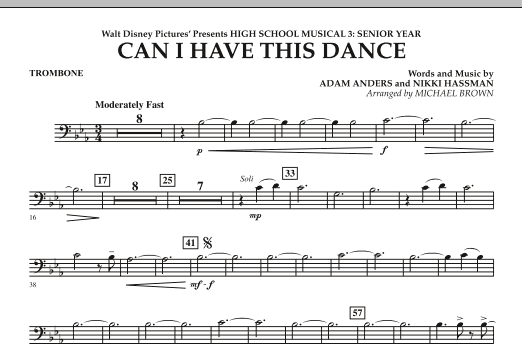 Can I Have This Dance? (from High School Musical 3) - Trombone (Concert Band)