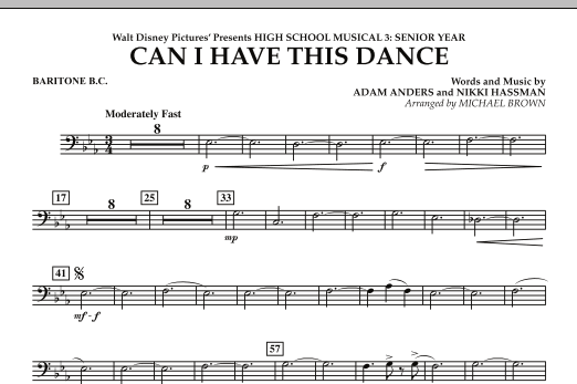 Can I Have This Dance? (from High School Musical 3) - Baritone B.C. (Concert Band)