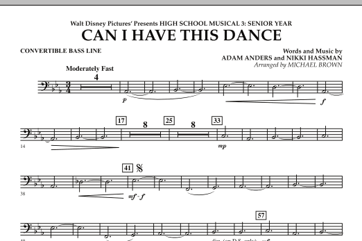 Can I Have This Dance? (from High School Musical 3) - Convertible Bass Line (Concert Band)