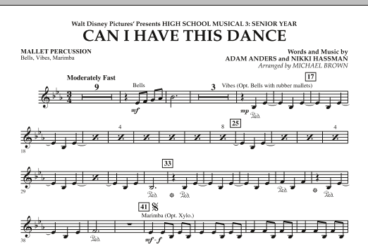 Can I Have This Dance? (from High School Musical 3) - Mallet Percussion (Concert Band)