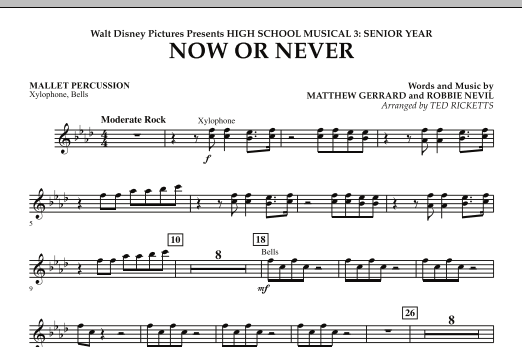 Now or Never (from High School Musical 3) - Mallet Percussion (Concert Band)