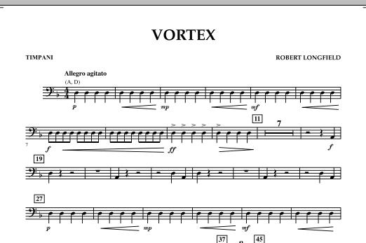 Vortex - Timpani (Concert Band)