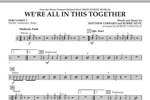 We're All in This Together (from High School Musical) - Percussion 2 (Orchestra)