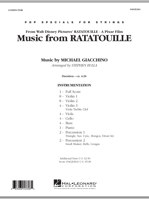 Music from Ratatouille (COMPLETE) sheet music for orchestra by Stephen Bulla and Michael Giacchino. Score Image Preview.