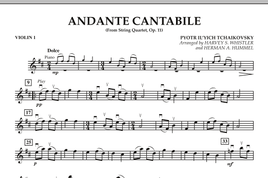 Andante Cantabile (from String Quartet, Op. 11) - Violin 1 (Orchestra)