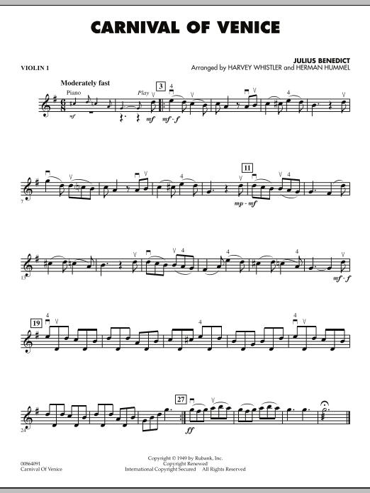 Carnival of Venice - Violin 1 (Orchestra)