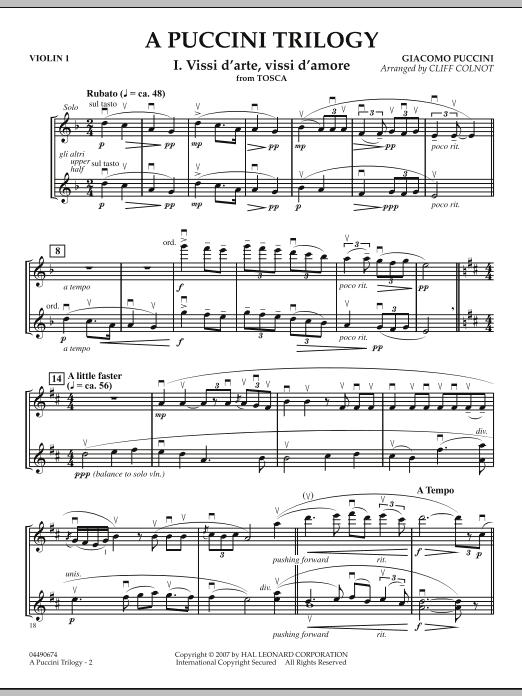 A Puccini Trilogy - Violin 1 (Orchestra)