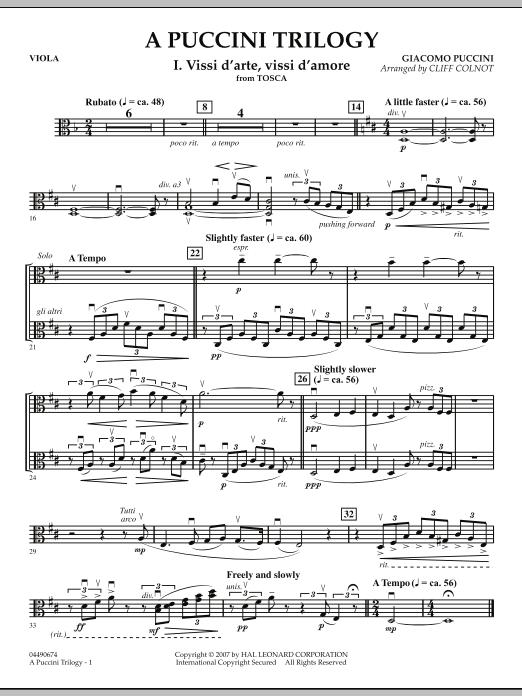 A Puccini Trilogy - Viola (Orchestra)