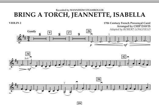 Bring a Torch, Jeannette, Isabella - Violin 2 (Orchestra)