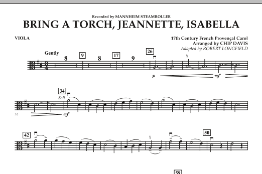 Bring a Torch, Jeannette, Isabella - Viola (Orchestra)