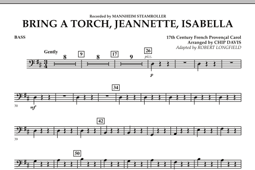 Bring a Torch, Jeannette, Isabella - Bass (Orchestra)