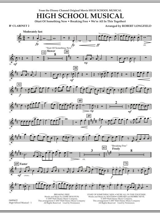 High School Musical - Bb Clarinet 2 (Full Orchestra)