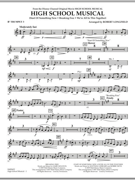 High School Musical - Bb Trumpet 3 (Full Orchestra)