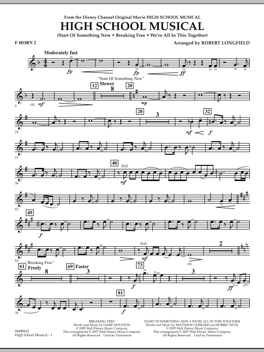 High School Musical - F Horn 2 (Full Orchestra)