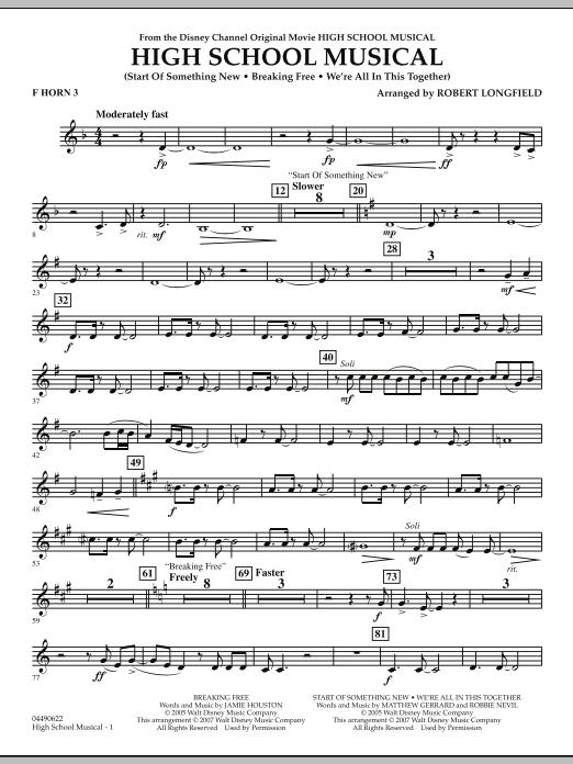 High School Musical - F Horn 3 (Full Orchestra)