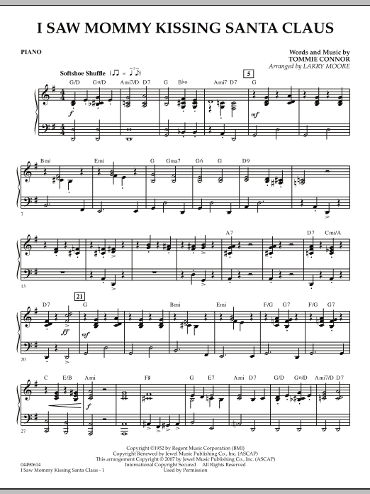 I Saw Mommy Kissing Santa Claus - Piano (Orchestra)