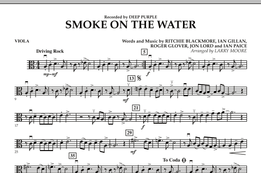 Smoke on the Water - Viola (Orchestra)