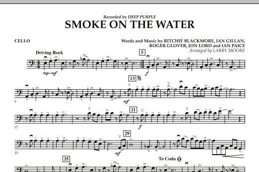 Smoke on the Water - Cello (Orchestra)