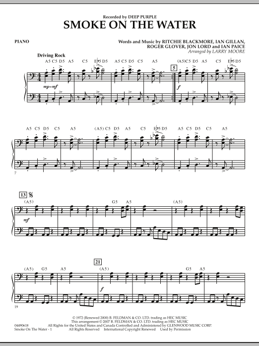 Smoke on the Water - Piano (Orchestra)