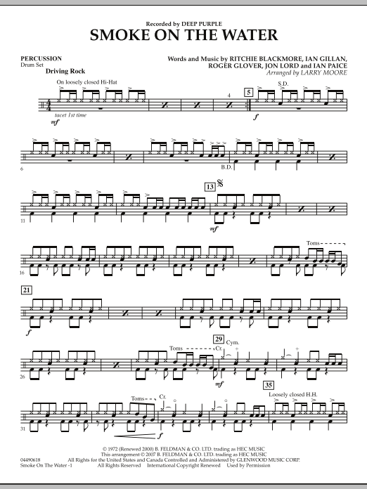 Smoke on the Water - Percussion (Orchestra)
