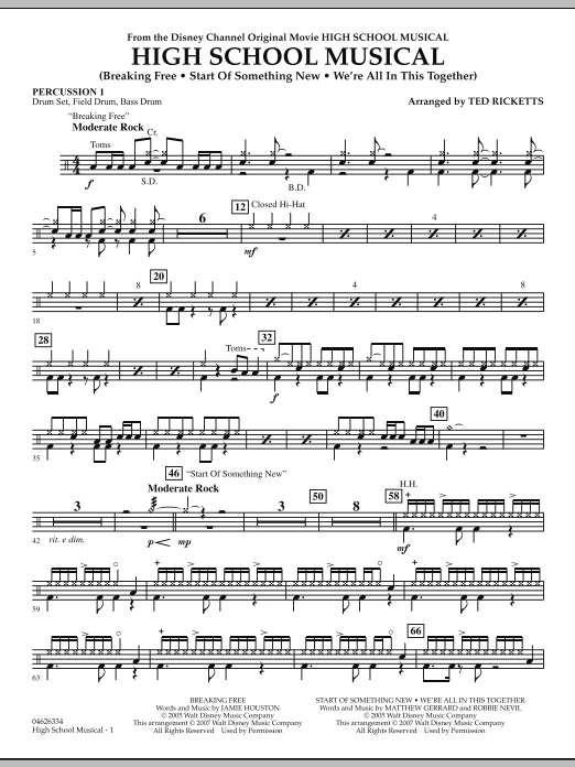High School Musical - Percussion 1 (Orchestra)