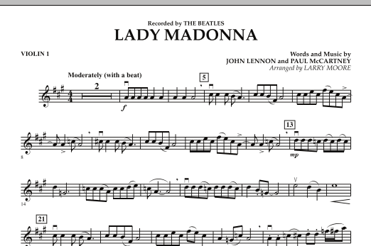 Lady Madonna - Violin 1 (Orchestra)