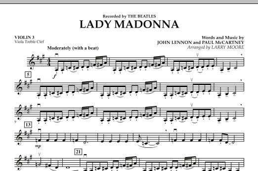 Lady Madonna - Violin 3 (Viola Treble Clef) (Orchestra)