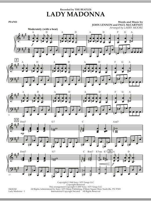 Lady Madonna - Piano (Orchestra)