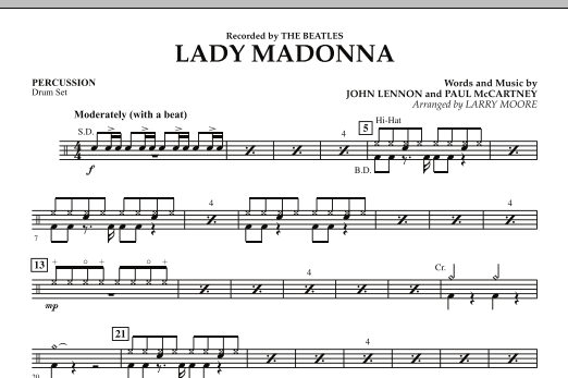 Lady Madonna - Percussion (Orchestra)