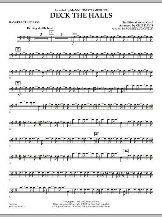 Deck the Halls (Mannheim Steamroller) - String Bass (Orchestra)